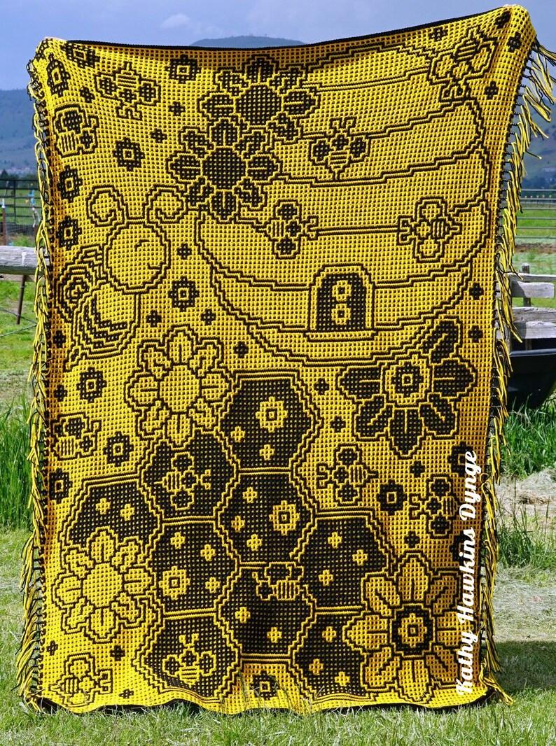 Honeycomb Medley Afghan Mosaic Crochet Pattern image 0