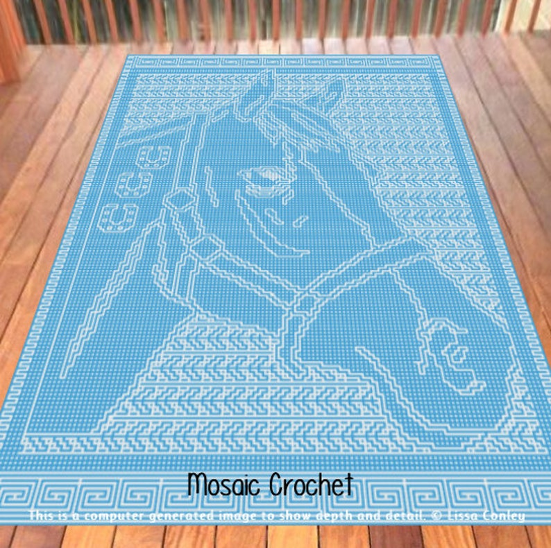 A Horse of Course Mosaic Crochet Pattern image 0