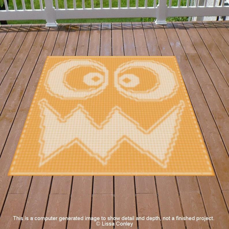 Silly Jack O Lantern Baby Throw Mosaic Crochet Pattern image 0