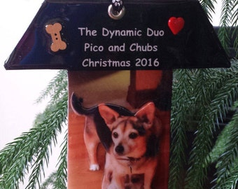 Personalized Dog 3D Photo Ornament - New!