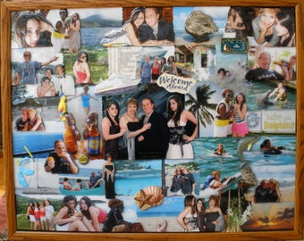 """Vacation 3D Photo Collage (24""""x30"""" shown)"""
