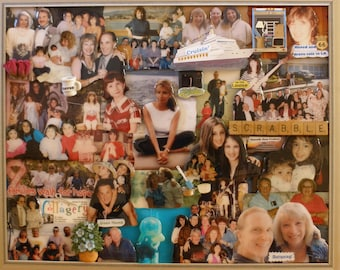 """Custom Personalized 3D Birthday Photo Collage (16""""x20"""" shown here)"""