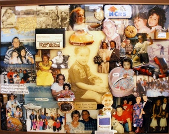 """Birthday 3D Photo Collage by Collagery (18""""x24"""" shown)"""