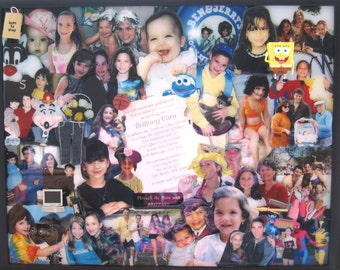 """Bat Mitzvah 3D Photo Collage by Collagery (18""""x24"""" shown)"""
