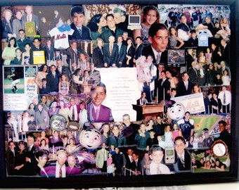 """Bar Mitzvah 3D Photo Collage by Collagery  (18""""x24"""" shown)"""