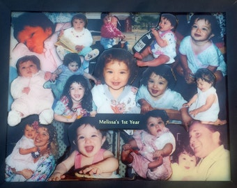 """Baby or Family 3D Photo Collage (11""""x14"""" shown)"""