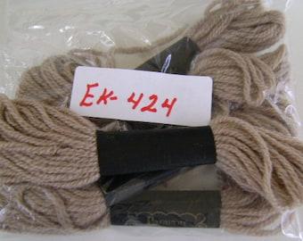 Yarn, Paragon, 100% Wool Crewel Needlepoint, Color #473 Dark Beige, 8.8 Yards