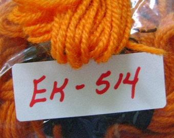 Yarn, Paragon, 100% Wool Crewel Needlepoint, Color #135 Bright Burnt Orange, 8.8