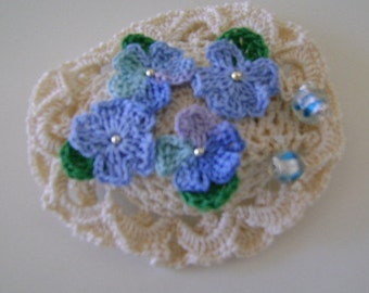 Forget Me Not Barrette 3 Inches Long