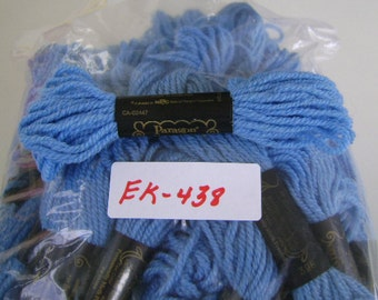 Yarn, Paragon, 100% Wool Crewel Needlepoint, #398 Light Sapphire Blue, 8.8 Yds