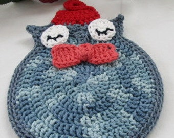 Crocheted Anti- Dalek Trivet A Must Have For Time Travelers Blue Bow Tie Fez
