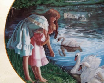 Vintage 1989 Fine China Collectible Plate, Ladies of the Lake by Janette O'Neil