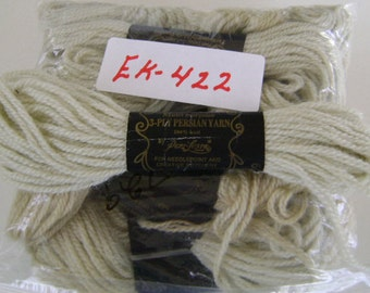 Yarn, Paragon, 100% Wool Crewel Needlepoint, Color #729 Pale Olive Green, 8.8 Yd