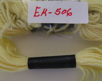 Yarn, Paragon, 100% Wool Crewel Needlepoint, #596 Pale Lemon Yellow, 8.8 Yards