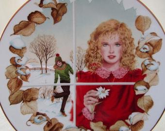 Vintage 1982 Winter's Dream by Gloria Eriksen Porcelain Collector's Plate