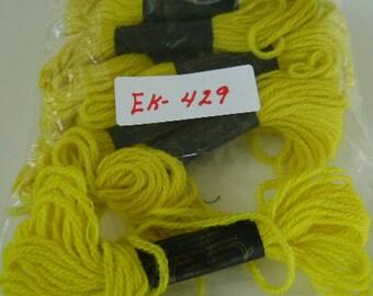 Yarn, Paragon, 100% Wool Crewel Needlepoint, #705 Dark Green Yellow, 8.8 Yards