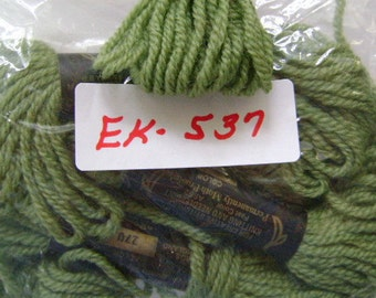 Yarn, Paragon, 100% Wool Crewel Needlepoint, Color #270 Dark Sage Green, 8.8 Yds