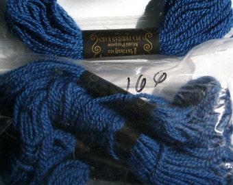 Yarn, Paragon, 100% Wool Crewel Needlepoint, Color #166 Midnight Blue, 8.8 Yards