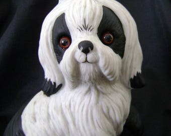 Vintage 1985 ceramic Shin-Tzu figurine, 3 1/2 inches tall
