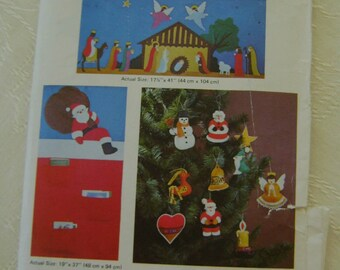 Pattern, Crafts, Viking, Christmas II Kwik-Sew #829 - Wall Hanging, Ornaments
