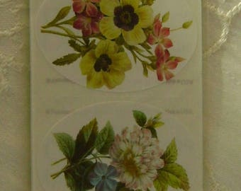 Brier Rose Floral Stickers, 10 per package