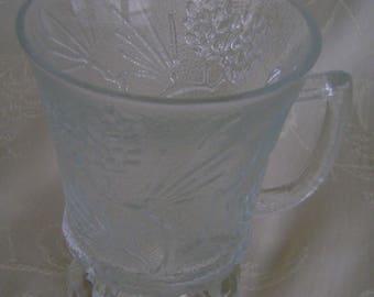 Vintage Cup, Tiara Ponderosa Pine, Indiana Glass CO. 1980