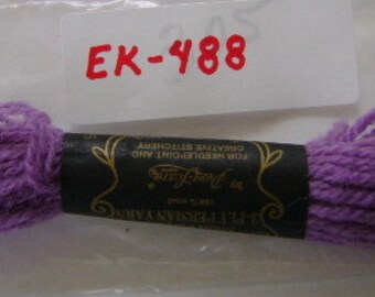 Yarn, Paragon, 100% Wool Crewel Needlepoint, #305 Medium Amethyst Purple, 8.8 Yd