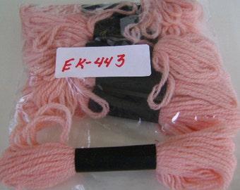 Yarn, Paragon, 100% Wool Crewel Needlepoint, Color #103 Spring Pink, 8.8 Yard