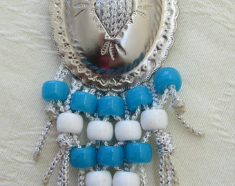 Yee-Haw Necklace of Pony Beads and Conchoes To Wear Boot-Scootin