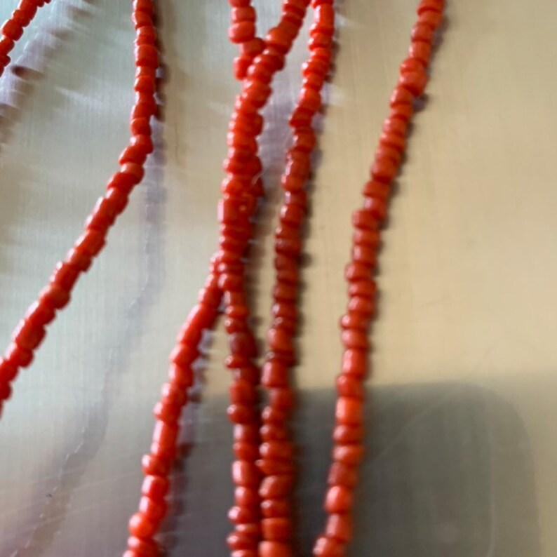 Coral bead  and tibetan  shell necklace