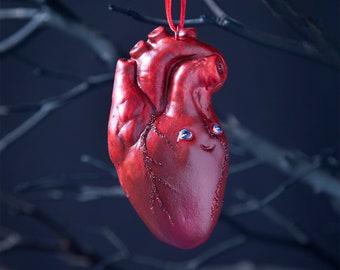 Human Heart Halloween Ornament, Spooky Christmas Ornament, Fall Decorations