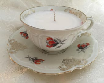 Germany Porcelain Tea Cup Soy Candle