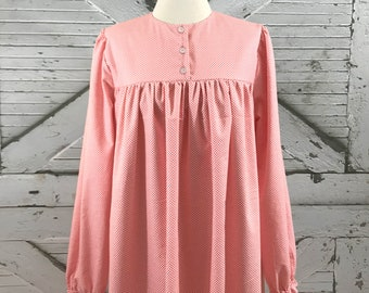 Custom Ladies Flannel Nightgowns--Misses and Plus Sizes