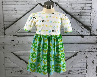 Scooters and Blooms Dress--Size 2-16