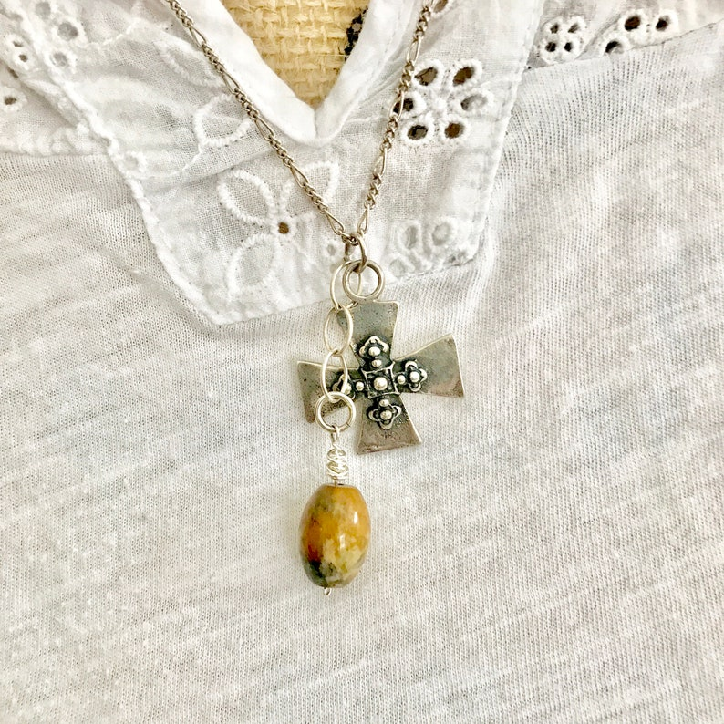 Discounted Viking Period Cross Necklace Viking Age Cross image 0