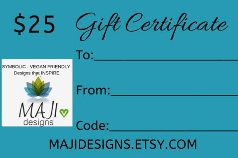 GIFT CERTIFICATE 25 dollar Gift Certificate image 0