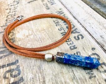 Tibetan Silver Lapis Point Pendant Necklace, Lapis Pendants Tibetan, Tibetan Lapis Pendant, Ethnic Nepal, Tibetan Lapis pendant, Lapis Jewel