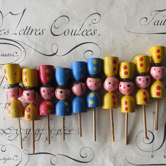 Admirable 10 Vintage Japan Birthday Soldier Cake Candle Holders Wooden Etsy Personalised Birthday Cards Arneslily Jamesorg