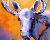 Moose! - Original Pastel ...