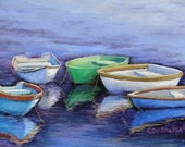 Boats Skiffs Giclee Print...