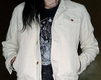 "Ralph Lauren ""Lauren jeans co"" off white corduroy jacket with gold buttons."