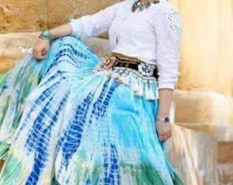 Lahaina Waterfall 25Yard Tribal Gypsy Skirt