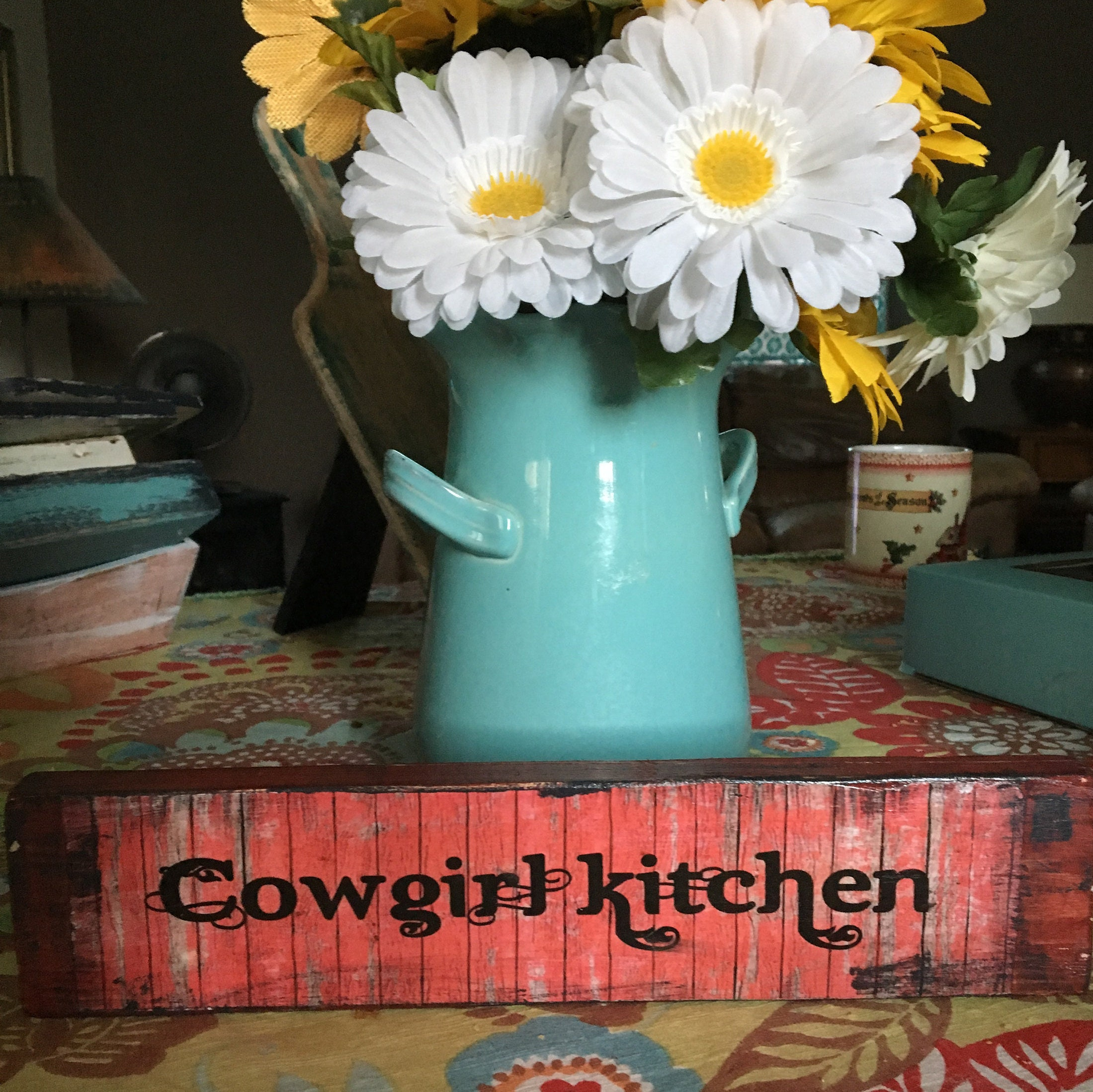 Wood sign Cowgirl Sign Ranch Decor Kitchen Decor Western | Etsy