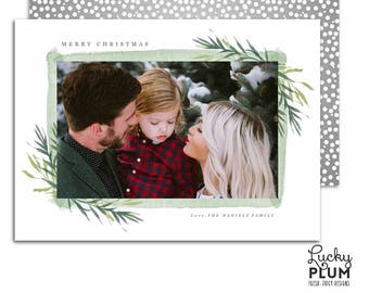 Christmas Photo Card / Holiday Photo Card / Modern Holiday Card / Printable Holiday Card / Christmas Card / Holiday Card