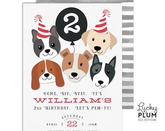 Puppy Party Invitation / Dog Birthday Invitation / Puppy Birthday Invitation / Puppy Dog Birthday Invitation / *Digital Invite DG02