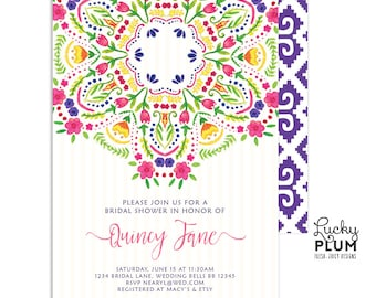 Fiesta Bridal Shower Invitation / Fiesta Engagement Invitation / Papel Picado Bridal Shower Invitation / Mexican Fiesta Invitation / Digital