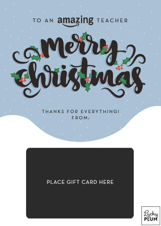 Amazon Gift Card Holder / Teacher Thank You Card ...