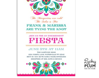 Fiesta Engagement Invite / Engagement Invitation / Mexican Fiesta Invite / Fiesta Invite / Fiesta Wedding Invite / Digital