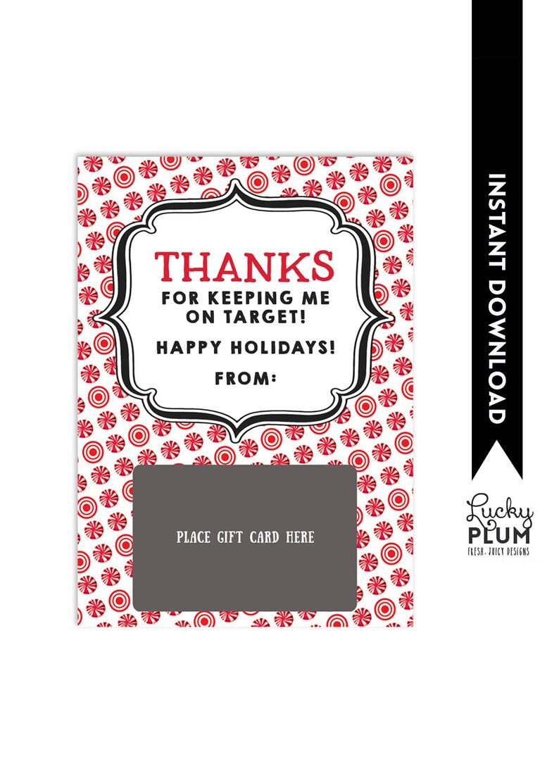 Target Gift Card Holder / Teacher Thank You Card ...