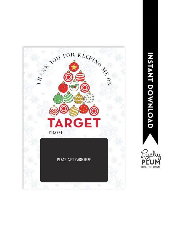 Target Gift Card Holder Teacher Thank You Card Christmas Etsy